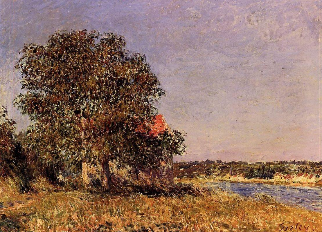 The Plain of Thomery and the Village of Champagne - Alfred Sisley