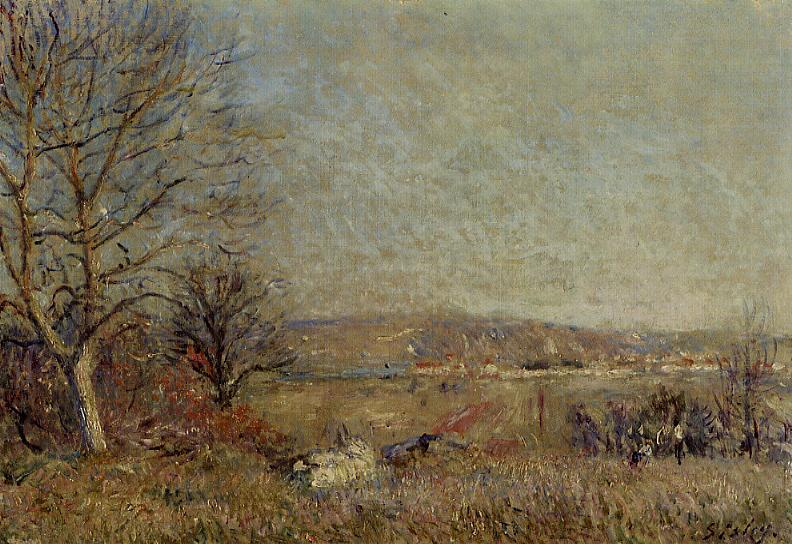 The Plain of Veneux, View of Sablons - Alfred Sisley