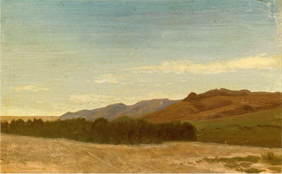 The Plains Near Fort Laramie - Albert Bierstadt