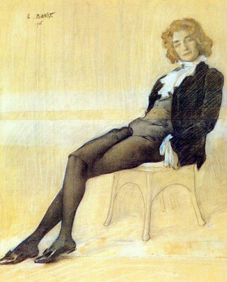 The poet Zinaida Gippius   - Leon Bakst