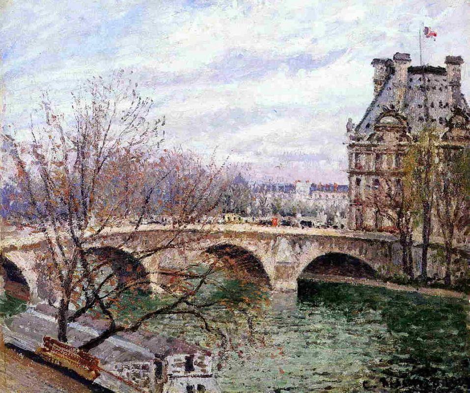 The Pont Royal and the Pavillion de Flore - Camille Pissarro