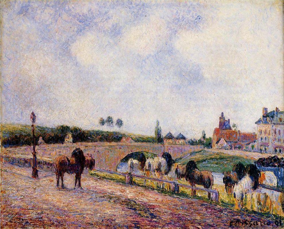 The Pontoise Bridge - Camille Pissarro