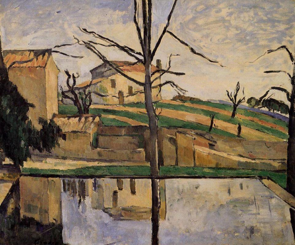 The Pool at Jas de Bouffan - Paul Cezanne