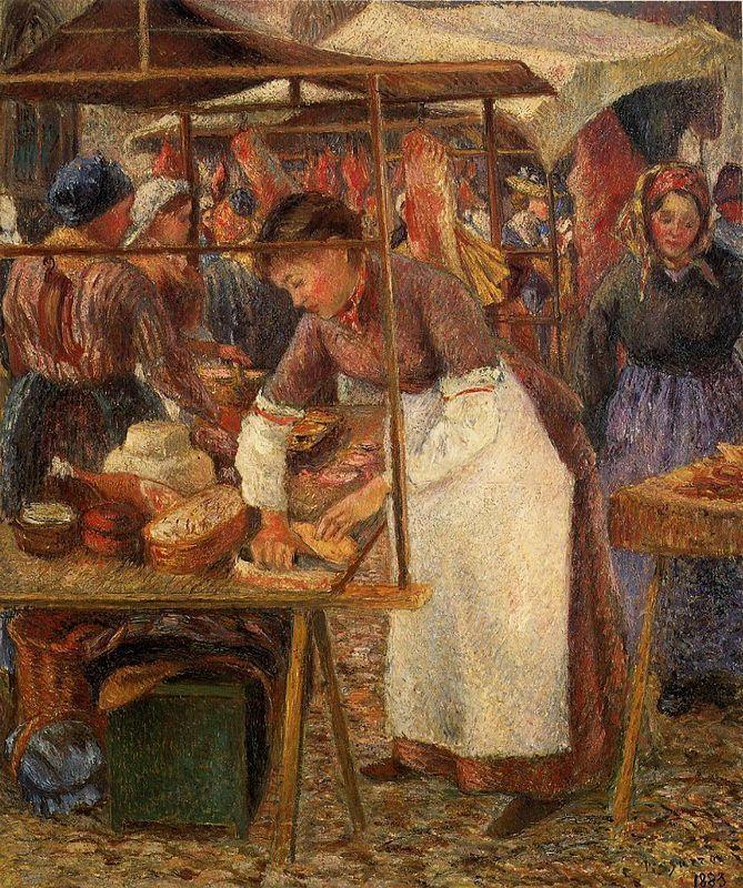 The Pork Butcher - Camille Pissarro