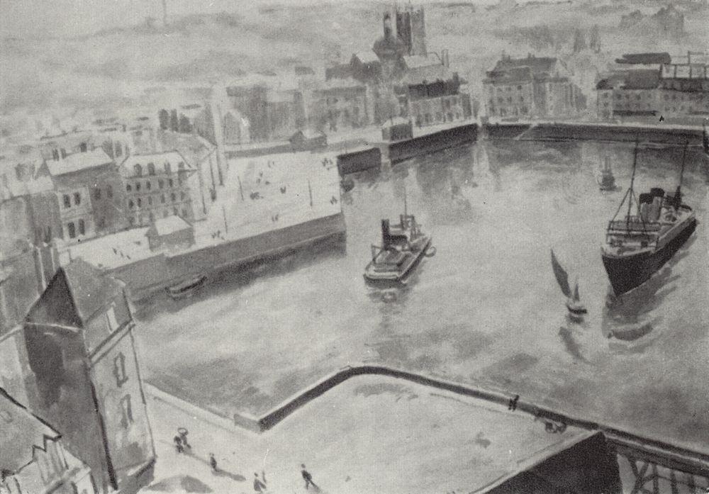 The Port of Dieppe  - Kuzma Petrov-Vodkin
