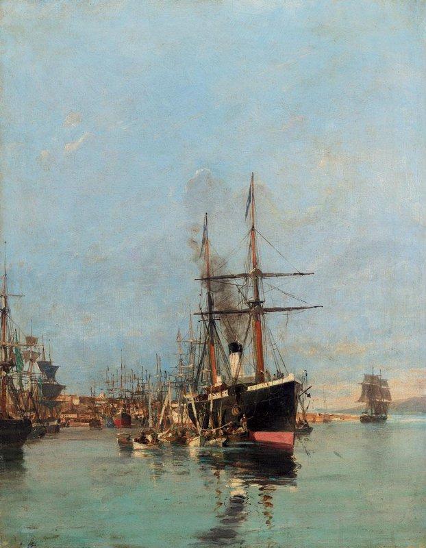 The port of Piraeus - Konstantinos Volanakis