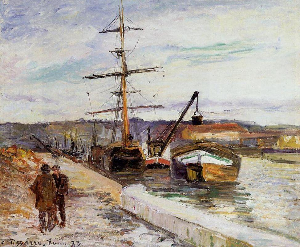 The Port of Rouen - Camille Pissarro