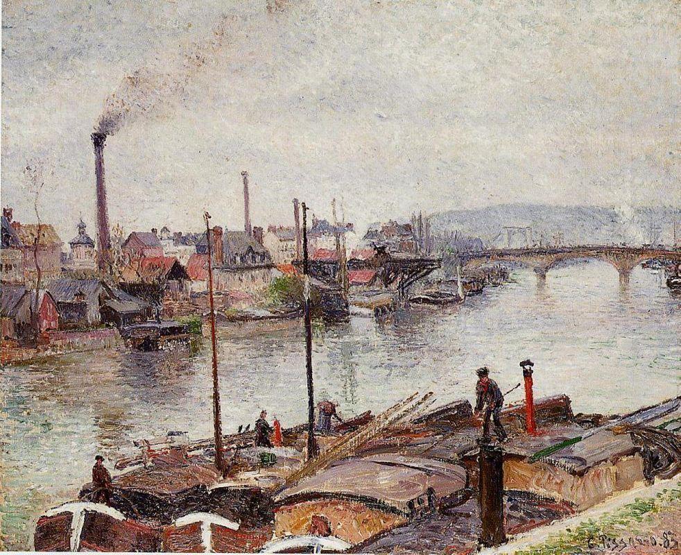 The Port of Rouen 2 - Camille Pissarro