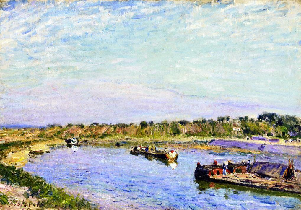 The Port of Saint Mammes, Morning - Alfred Sisley