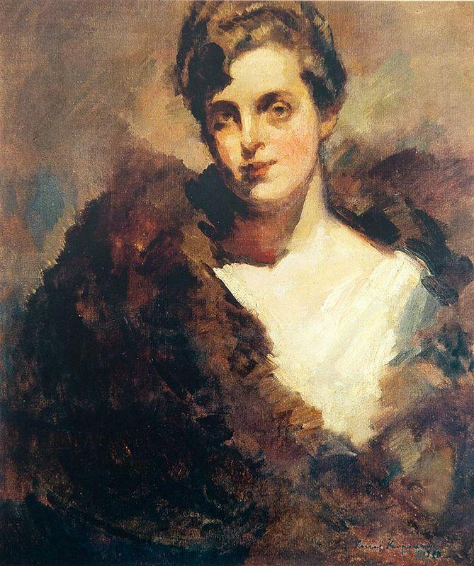 The portrait of Mariinsky Theatre singer Vera Aleekseevna Dorofeeva - Konstantin Korovin