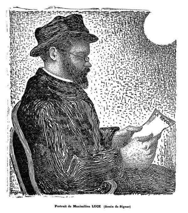 The Portrait of Maximilien Luce - Paul Signac