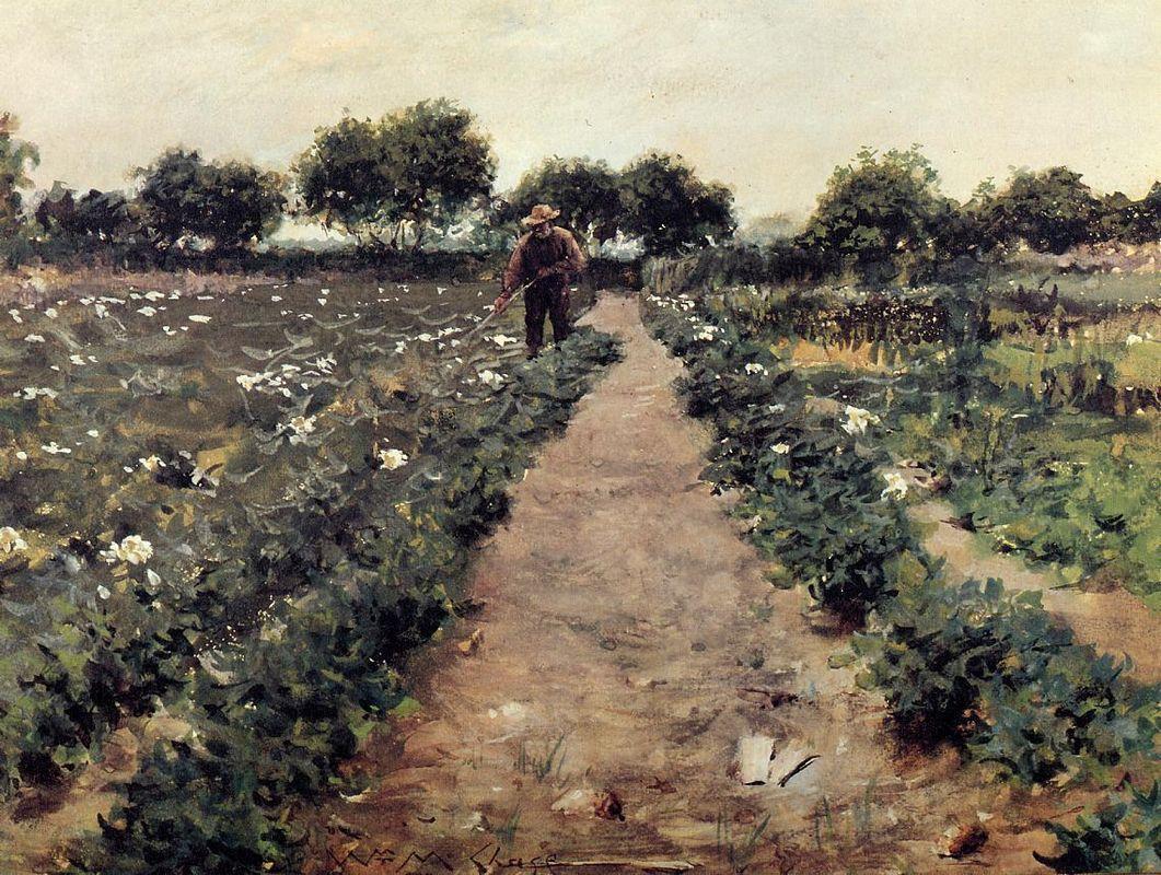 The Potato Patch, aka Garden Shinnecock - William Merritt Chase