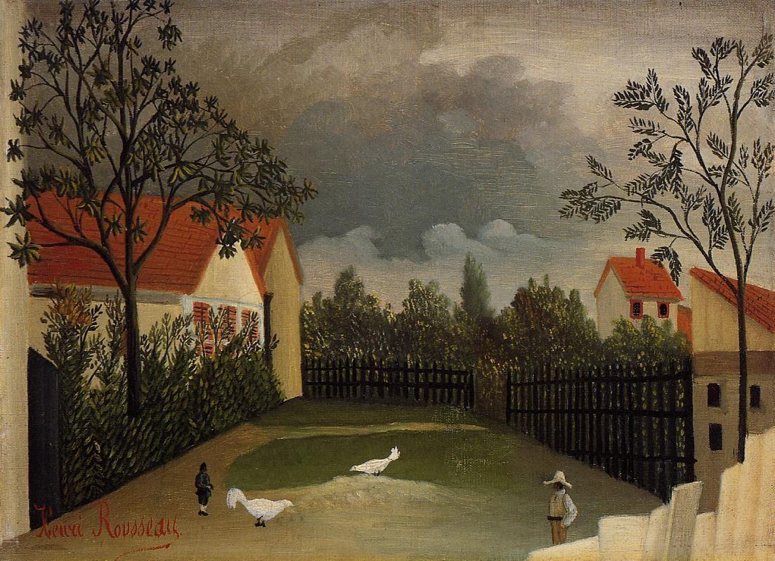 The Poultry Yard - Henri Rousseau