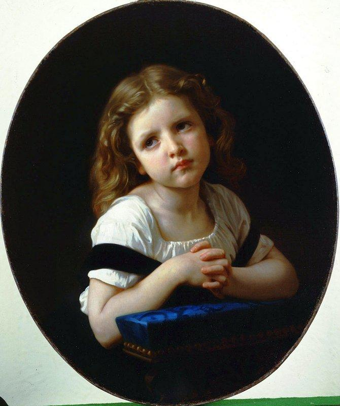 The Prayer - William-Adolphe Bouguereau