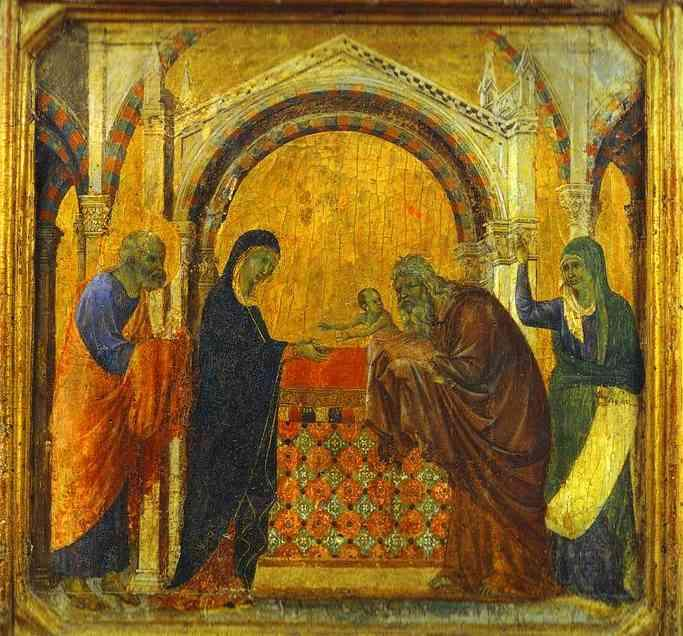 The Presentation in the Temple - Duccio