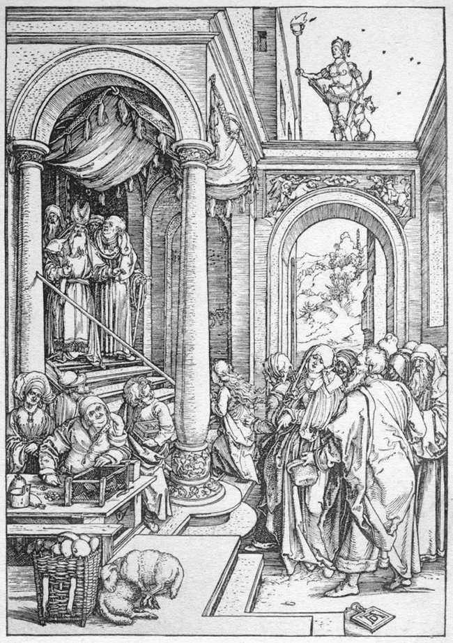 The Presentation of the Virgin in the Temple - Albrecht Durer