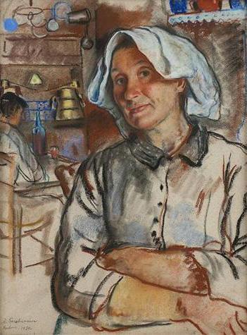 The pride of the housewife - Zinaida Serebriakova