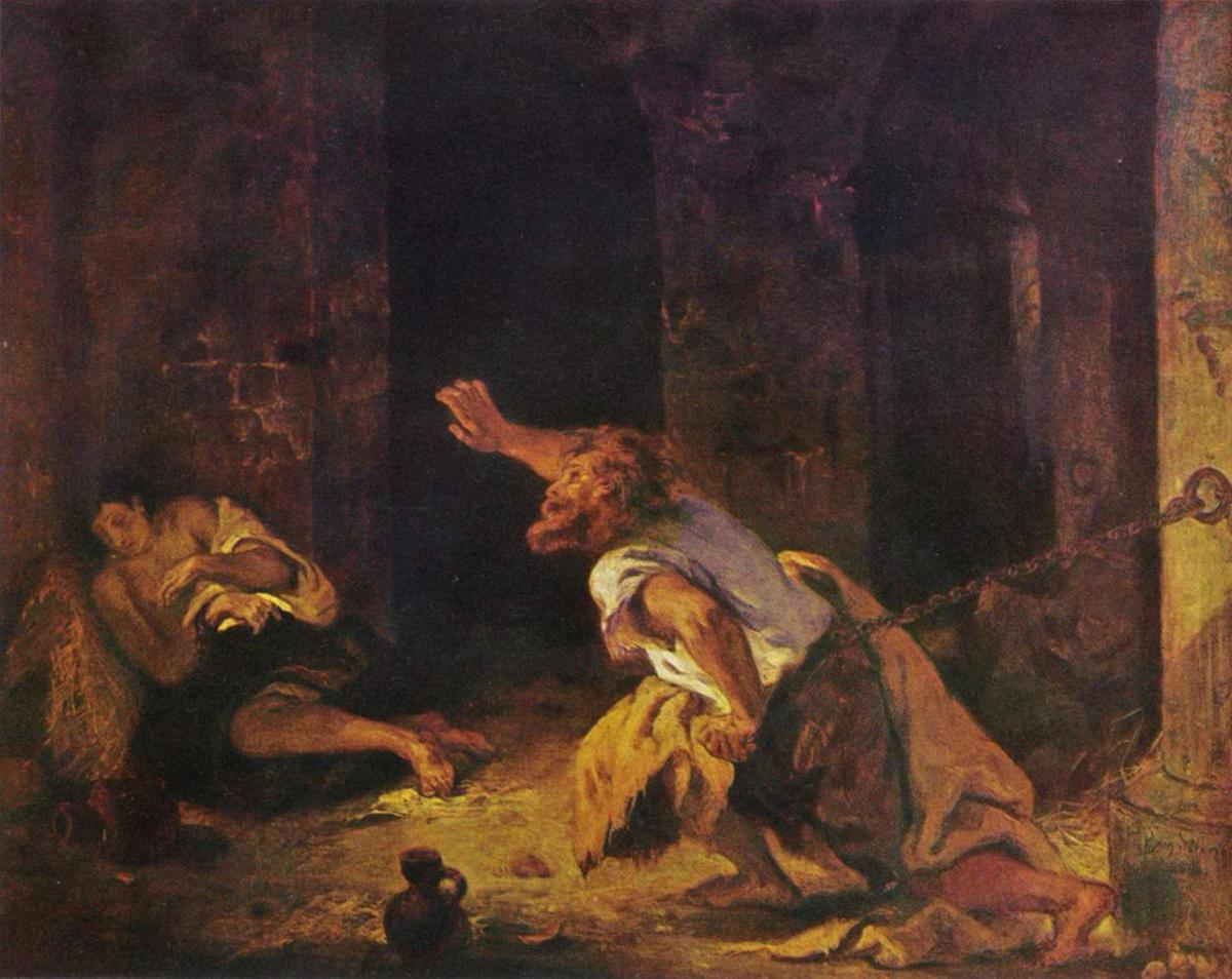 The Prisoner of Chillon - Eugene Delacroix