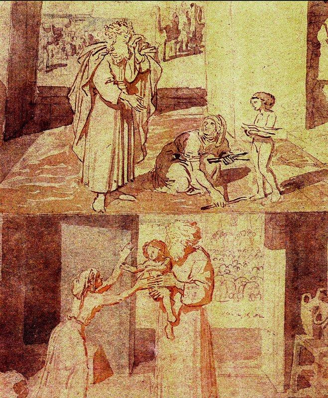 The Prophet Elijah and the widow sareptana - Alexander Ivanov