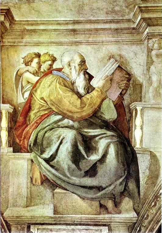 The Prophet Zechariah - Michelangelo