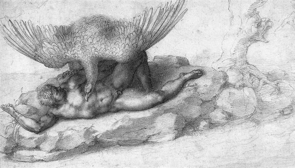 The Punishment of Tityus - Michelangelo