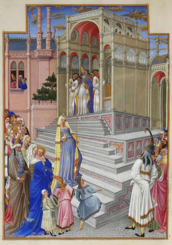The Purification of the Virgin - Limbourg brothers