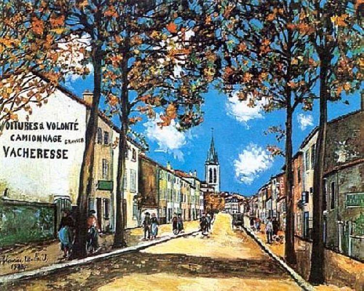 The Quartier Saint-Romain at Anse, Rhone - Maurice Utrillo