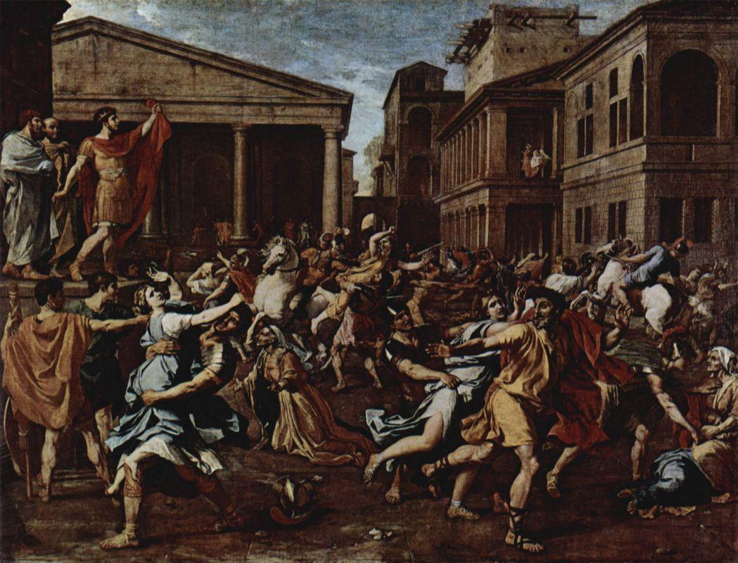 Rape of the Sabine Women - Nicolas Poussin