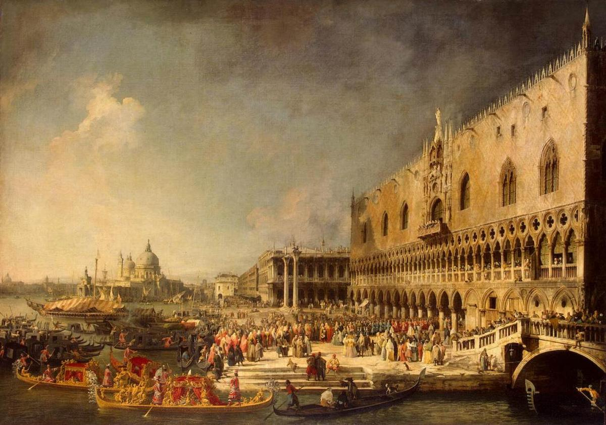 The Reception of the French Ambassador in Venice - Canaletto
