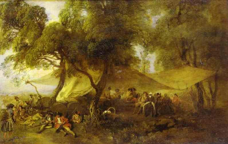 The Recreations of War - Antoine Watteau