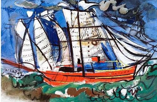 The red boat - Dimitris Mytaras