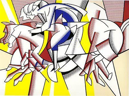 The red horseman - Roy Lichtenstein