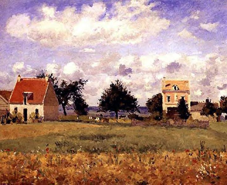 The Red House - Camille Pissarro
