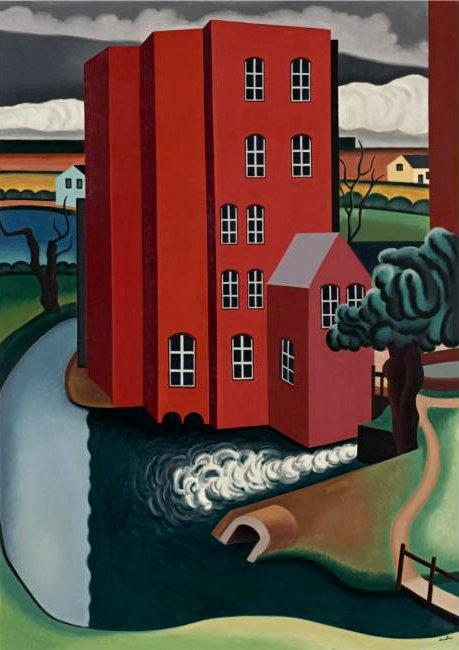 The Red House - Auguste Herbin