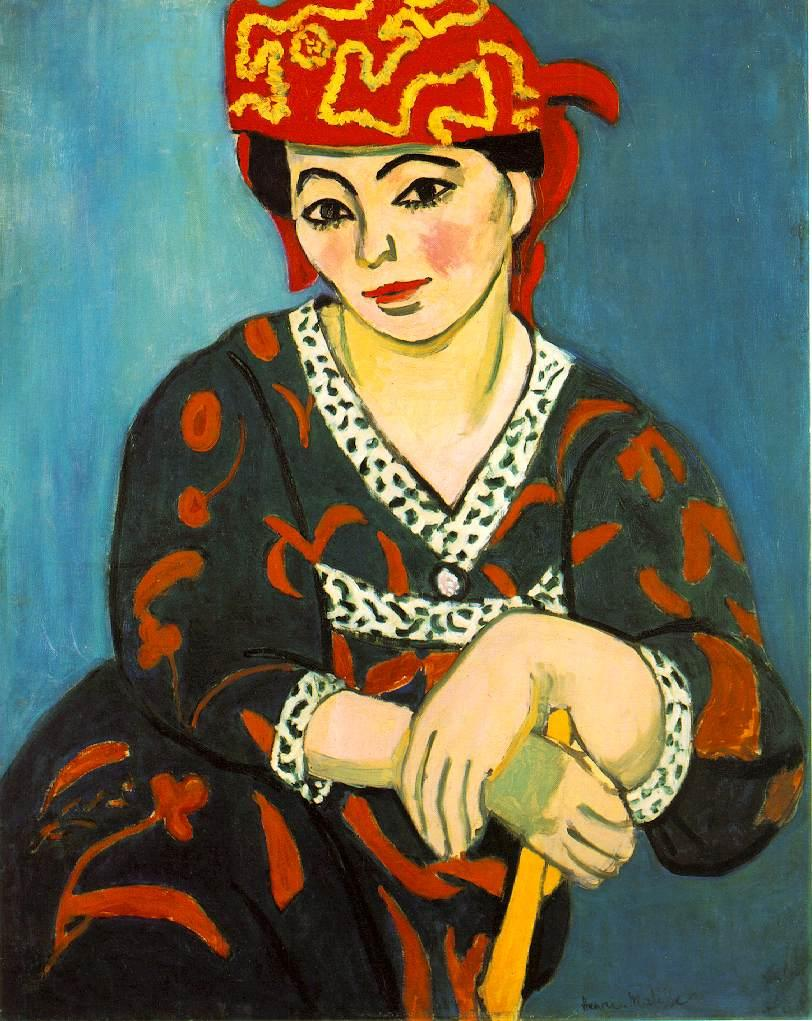 The Red Madras Headdress  - Henri Matisse