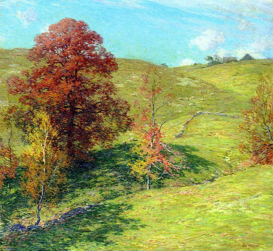 The Red Oak (no.2) - Willard Metcalf