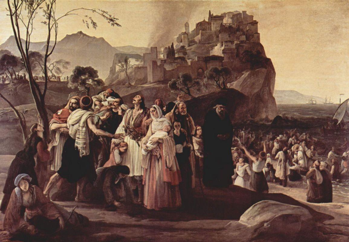 The Refugees of Parga - Francesco Hayez