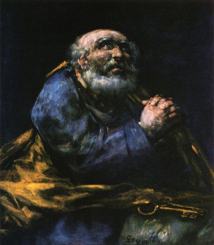 The Repentant Saint Peter - Francisco Goya