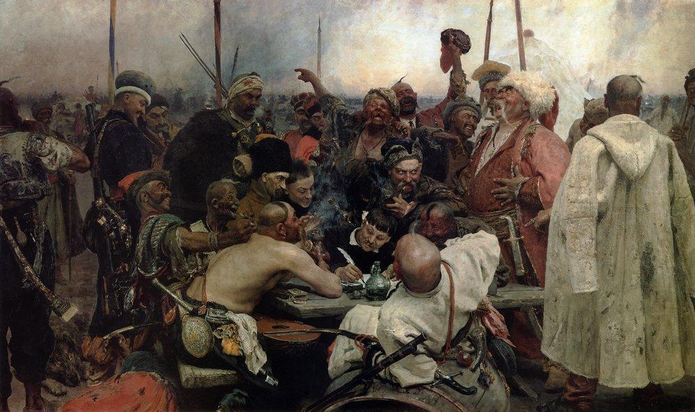 The Reply of the Zaporozhian Cossacks to Sultan Mahmoud IV - Ilya Repin