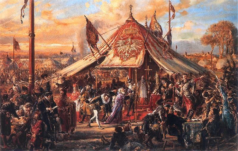 The Republic at Zenith of Power  Golden Liberty  Election A D  1573  - Jan Matejko