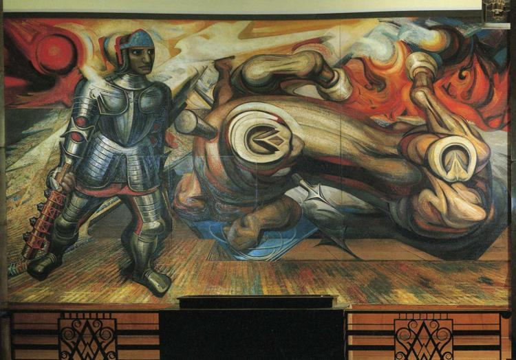 The Resurrection of Cuauhtemoc - David Alfaro Siqueiros