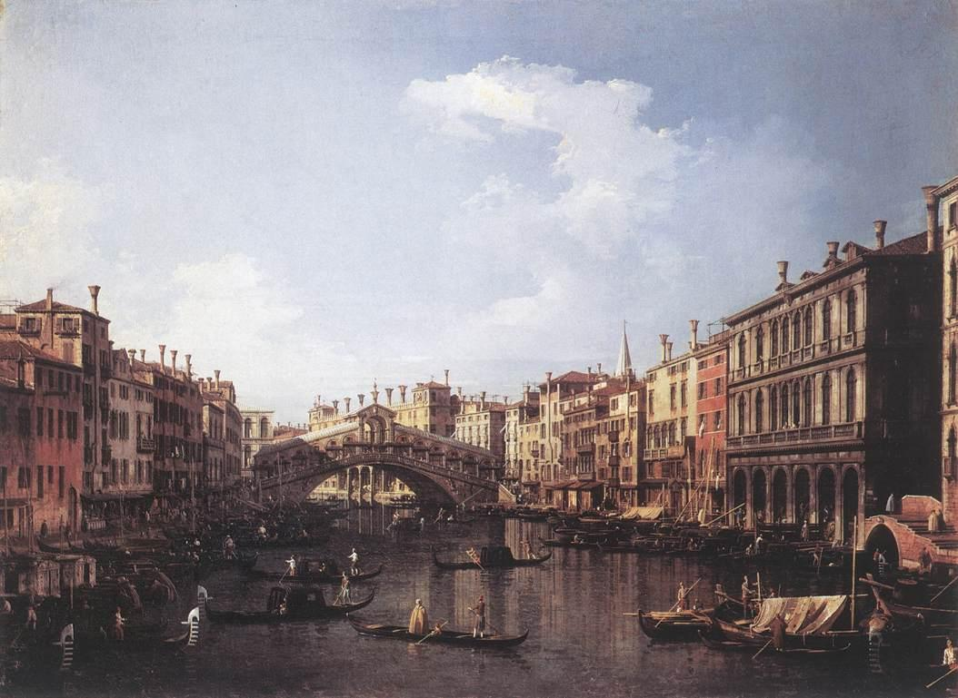 The Rialto Bridge from the South - Canaletto