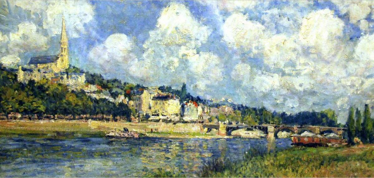 The River at Saint Cloud - Alfred Sisley