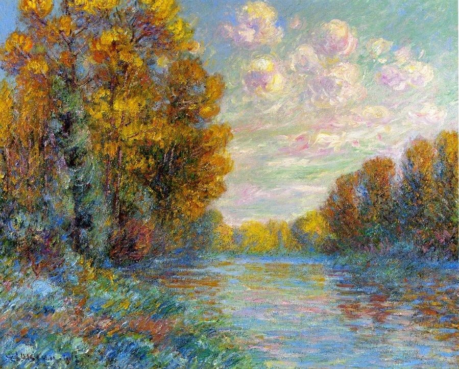 The River in Autumn - Gustave Loiseau