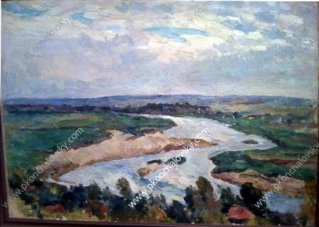 The river in the morning - Pyotr Konchalovsky