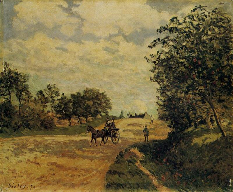 The Road from Mantes to Choisy le Roi - Alfred Sisley