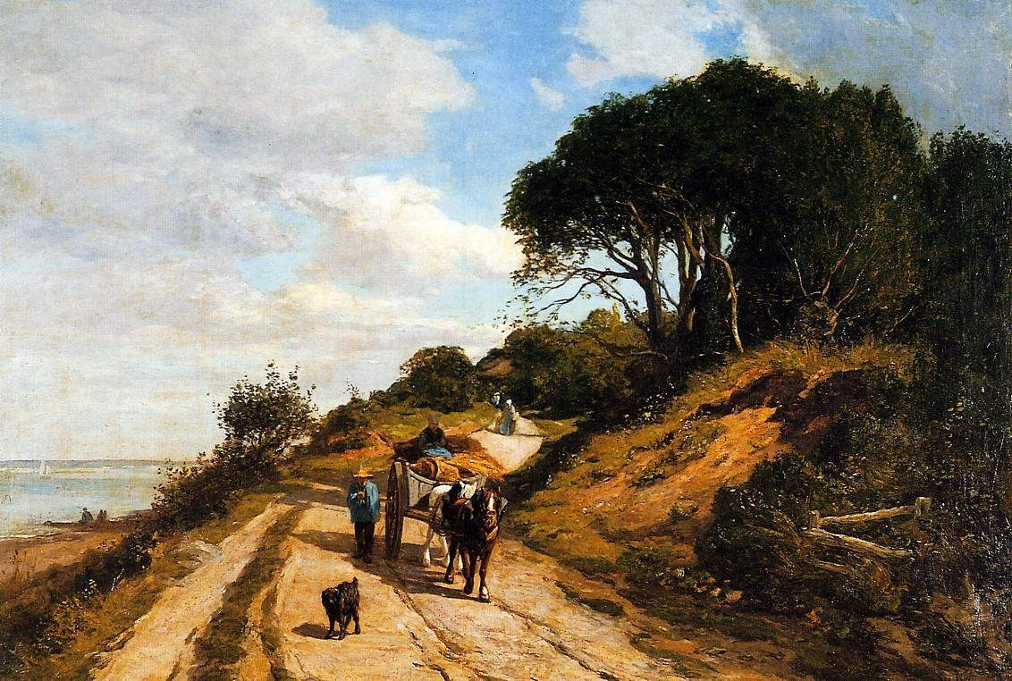 The Road from Trouville to Honfleur  - Eugene Boudin