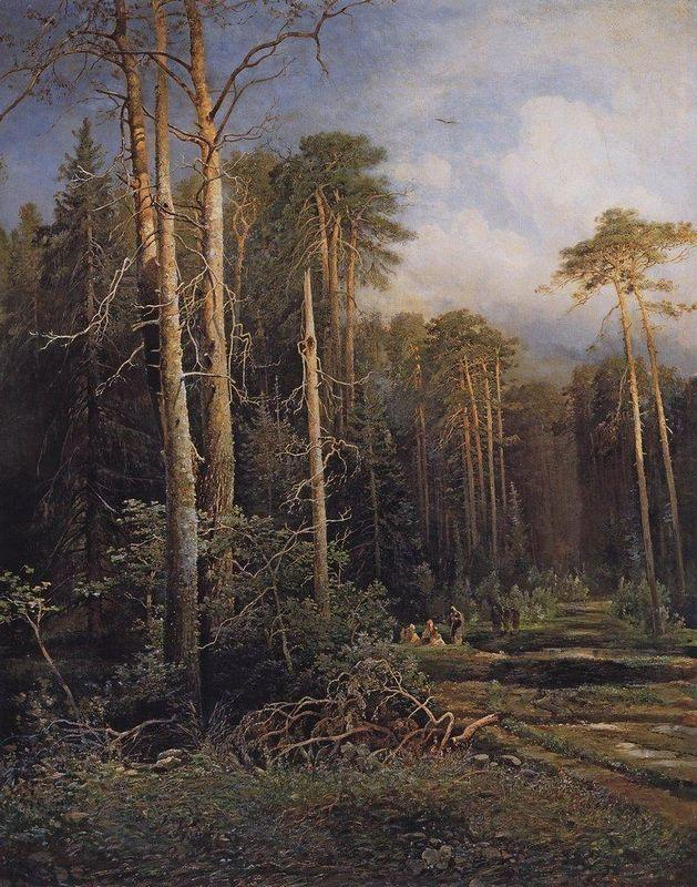 The road in the woods - Aleksey Savrasov