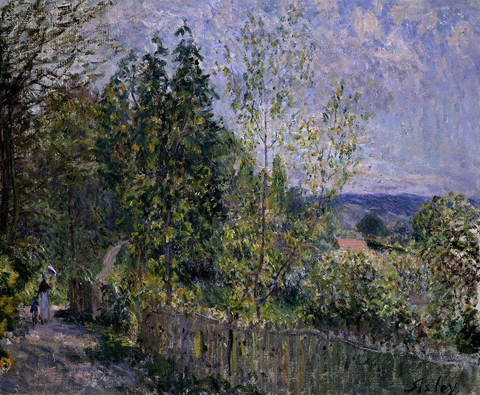 The Road in the Woods - Alfred Sisley