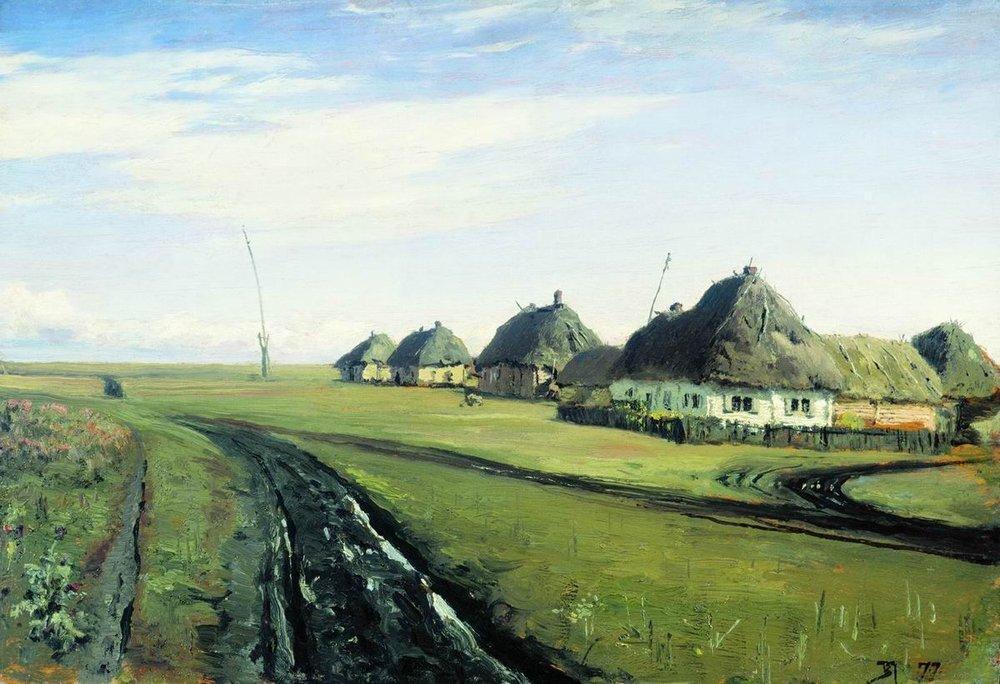 The road near the village - Vasily Polenov